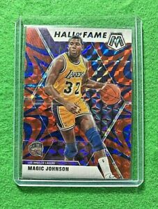 MAGIC-JOHNSON-MOSAIC-PRIZM-BLUE-CARD-LAKERS-2019-20-MOSAIC-BASKETBALL-HOF-PRIZM