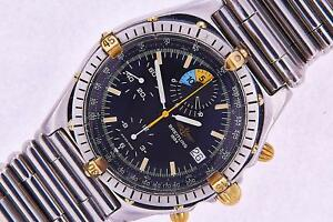Details About Breitling Chronomat Yachting Watch Mens Automatic Steel Gold Watch Chronograph