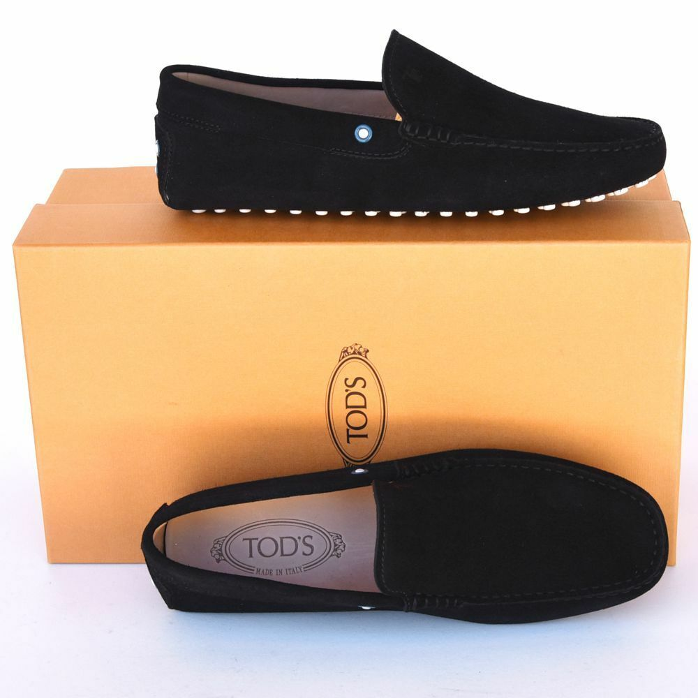 83ad1d637ed TOD S New sz US 7 7 7 Designer Mens Gommino Drivers Loafers Shoes black  33b356