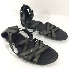 d610181c1370 Born Eva Women s Sandals Size 8 Black Leather Gladiator Ankle Cuff ...