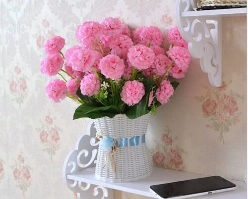 10 HEADS Wedding Artificial Silk Hydrangea Posy Flower Bouquet Home Party Decor