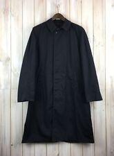 Vintage Men's Enlisted Navy Blue Black Long Trench Rain Coat USN 38-40 M