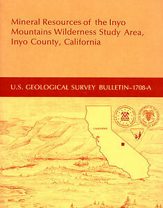 Gold Mines Near Lone Pine Calif Owens Valley Inyo Mtns Scarce