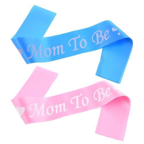 Mum To Be Baby Shower Party Deko Schärpe Mutti Mutter Mädchen Junge Partyset