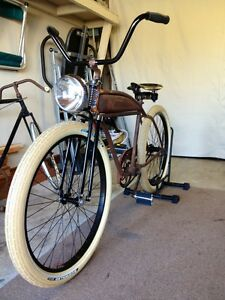 Vintage Black Whizzer Monark T2 Heavy Duty Bicycle Bike Springer Fork