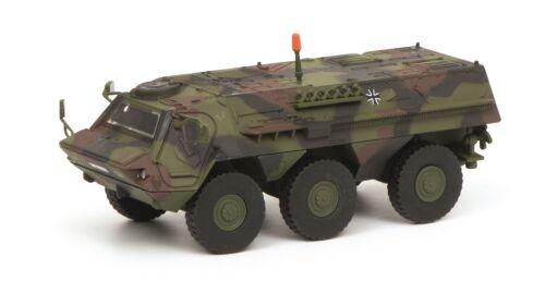 "Schuco 1:87 452635800 Fuchs transporte blindado /""bundeswehr/"" camuflaje nuevo embalaje original"