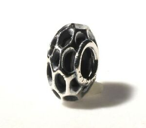 AUTHENTIC-TROLLBEAD-ORIGINAL-TAGBE-20147-SILVER-STOPPER-BEEHIVE-SPACER