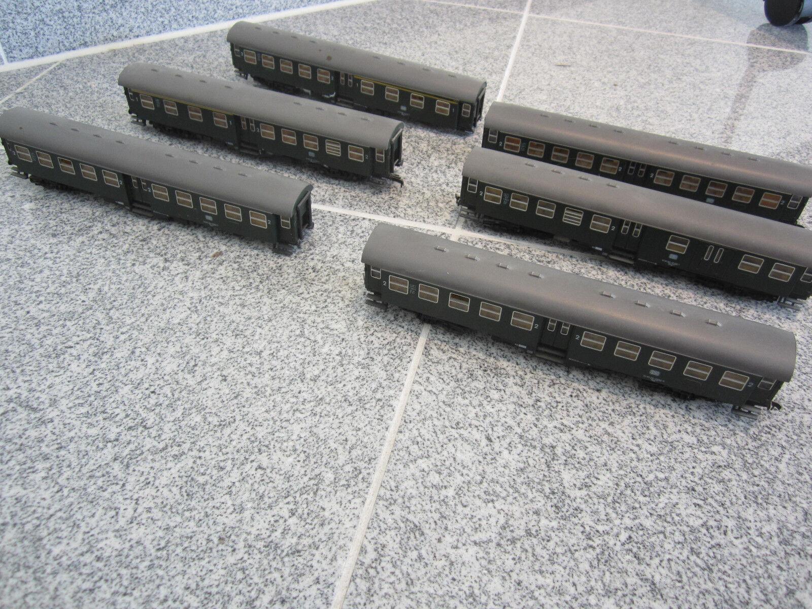 1510-7  ROCO Wagenset vetture passeggeri DB 50 80