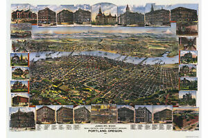 Map-of-Portland-Oregon-Antique-Map-Pictorial-or-Birdseye-Map-1890