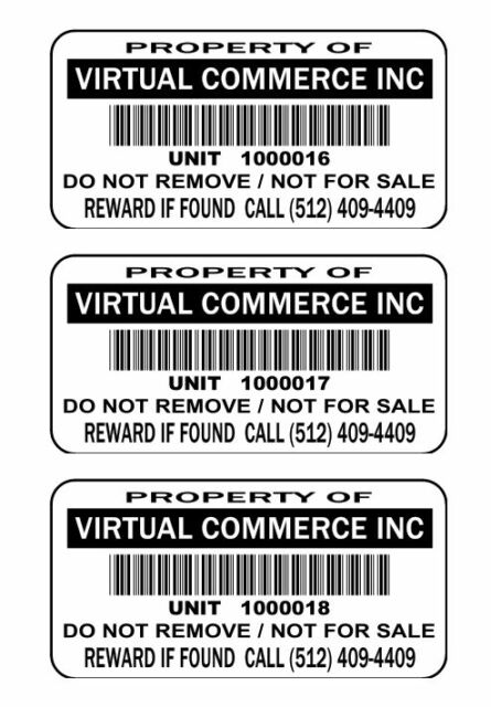 250 2x1 Custom Printed UPC Barcode Waterproof Inventory Stickers Labels Tags