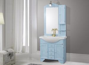 Mobile bagno decape blu cm con zoccolo mod cinzia lavabo retrò