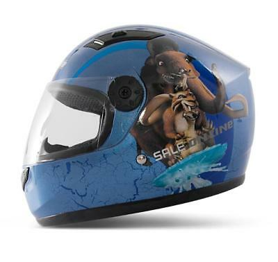Youth Kids Spider Pattern Full Face Street Motorcycle Helmet Washable lining E11