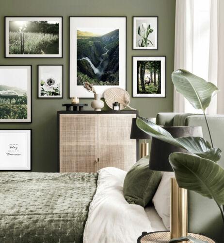 Details about  /Nature Mountain Sunrise Landscape Poster Forest Wall Art Paint Morden Home Decor