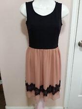 EN FOCUS STUDIO Mauve & Black Evening Party Dress Sleeveless Size 4 WC649