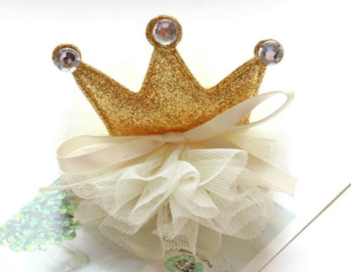 NEW Girl Kid Child Baby Shower birthday Party Crown Tiara Hair head Clip Prop