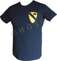 1st Cavalry Division Us Army Sleeve Patch Black T Shirt 'the First Team'