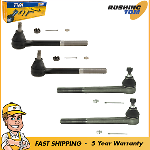4 Pc Steering Kit Tie Rod Ends For Chevy Blazer GMC Jimmy S10 Sonoma RWD