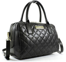 NWT DKNY Donna Karan Black Quilted Nappa Leather Satchel