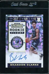 2019-20-Panini-Contenders-Rookie-Ticket-Brandon-Clarke-RC-Cracked-ice-13-25