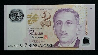 Gentle Singapore $2 Dollars Nd 2016 P46h 1 Hollow Star Unc Banknote Latest Technology