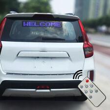 Jw 12v Car Led Sign Remote Programmable Scrolling Message Display Screen Boar