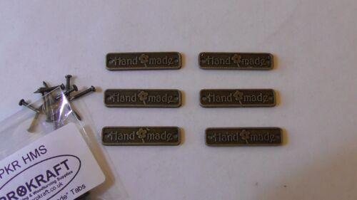 6//Pack Acabado en bronce mini hecho a mano signos con tachuelas-prokraft rupia paquistaní HMS