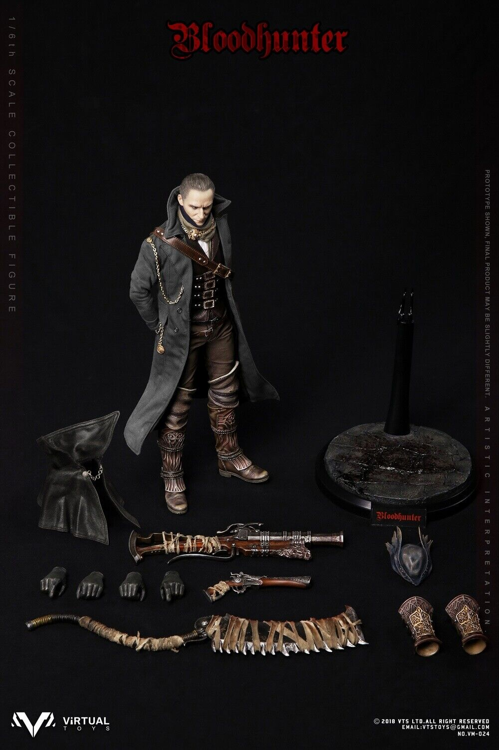 1 6 VTS TOYS Blood Hunter VM-024 Movable Doll For Collection Action Figure Model