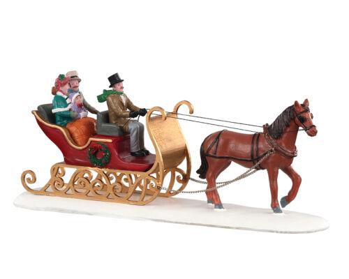 Victorian Sleigh Ride LEMAX Weihnachtsdorf Winterdorf Modellbau