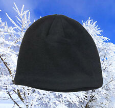 New Mens Van Heusen Solid Knit Ski Cap Beanie - Black, One size. Free shipping