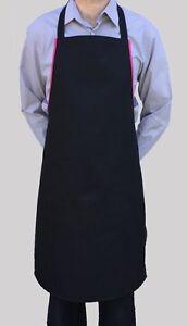 Brand New Hommes Femmes Tablier Noir Travail Chef Cuisinier Restaurant Café Shop-afficher Le Titre D'origine Eegzvvus-07230025-378710218