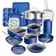 Granitestone Diamond Blue 20 Piece All In One Kitchen, Cookware and Bakeware Set