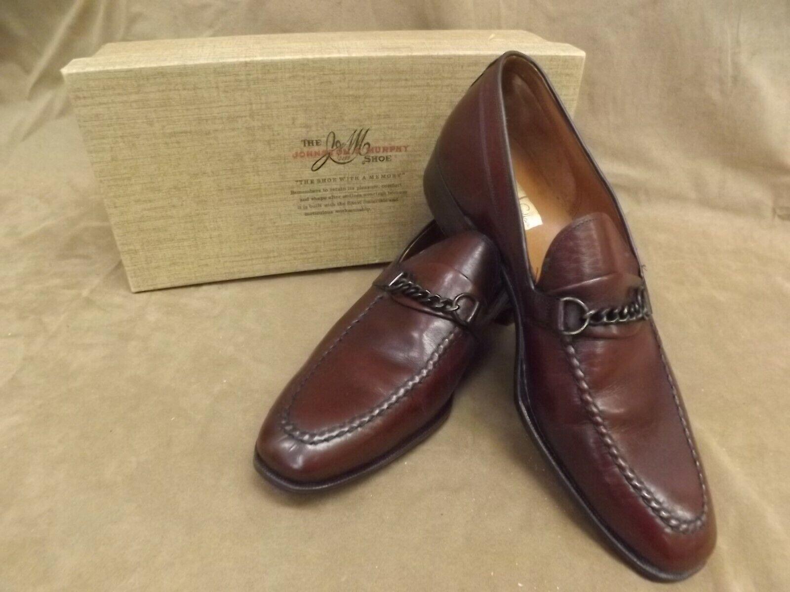 USA Vintage 1950s nuevo Johnston Murphy Aristocraft Caoba Mocasín Cuero Zapatos De 8.5B