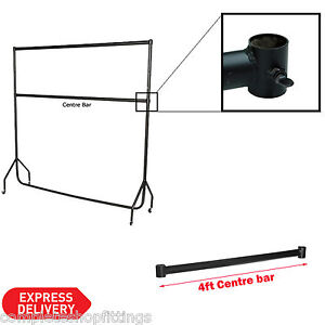 4ft Garment Rail Center Bar/ Middle Bar for Black Heavy Duty Clothes Rail