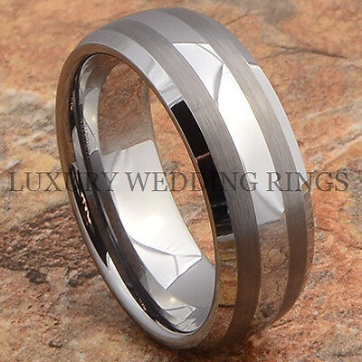 Titanium Mens Ring Matte Dome Wedding Band Womens Bridal Jewelry Love Size 6-13
