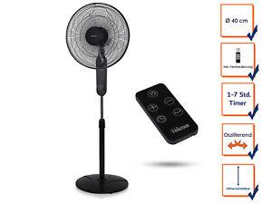 Zimmerventilator Lüfter Standventilator mit Fernbedienung /& Timer Oszillierend