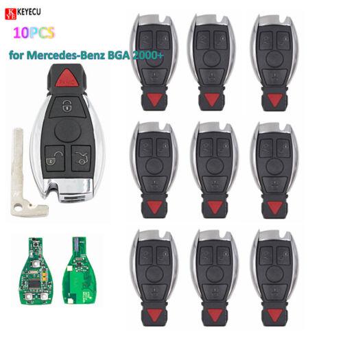 10PCSNew Smart Remote Key 3+1 Button 315MHz NEC Chip for Mercedes-Benz BGA 2000+