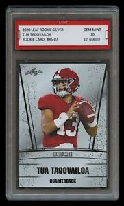 TUA-TAGOVAILOA-2020-039-20-LEAF-SILVER-1ST-GRADED-10-ROOKIE-CARD-DOLPHINS-ALABAMA