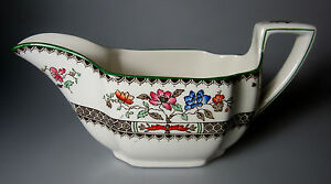 Spode-Chinese-Rose-Earthenware-GRAVY-SAUCE-BOAT-no-underplate