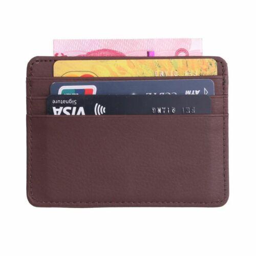 Men/'s Leather Thin Wallet Money Credit Card Slim Holder Money Pocket Organizer
