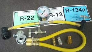 R22, R12, R134A, ENVIROSAFE, R22A, UNIVERSAL CAN TAPER KIT W/GAUGE & HOSE, KIT B