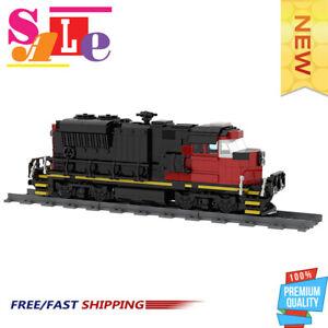 MOC-47989 Cargo Train - EMD SD70M-2 CN Train Building Blocks Bricks Toys
