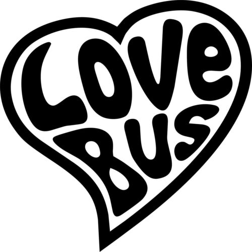 "Volkswagen VW Extra Large 17/"" LOVE BUS Stickers X2 Transporter T5 T4 Campervan"