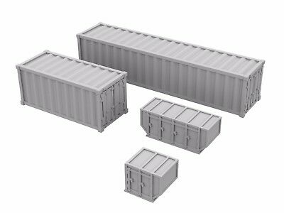 3D Printed Model 5 each type 1:400-20 x Airport Containers