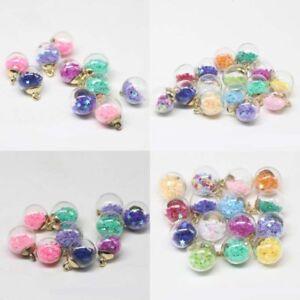 Making Round Transparent DIY Jewelry Pendants 20Pcs Glass Ball Confetti Charms