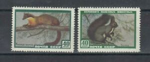 Timbres-cccp-urss-russie-1959-animaux-neufs