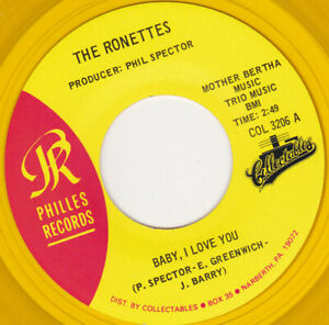 "THE RONETTES - Baby I Love You 7"" 45"