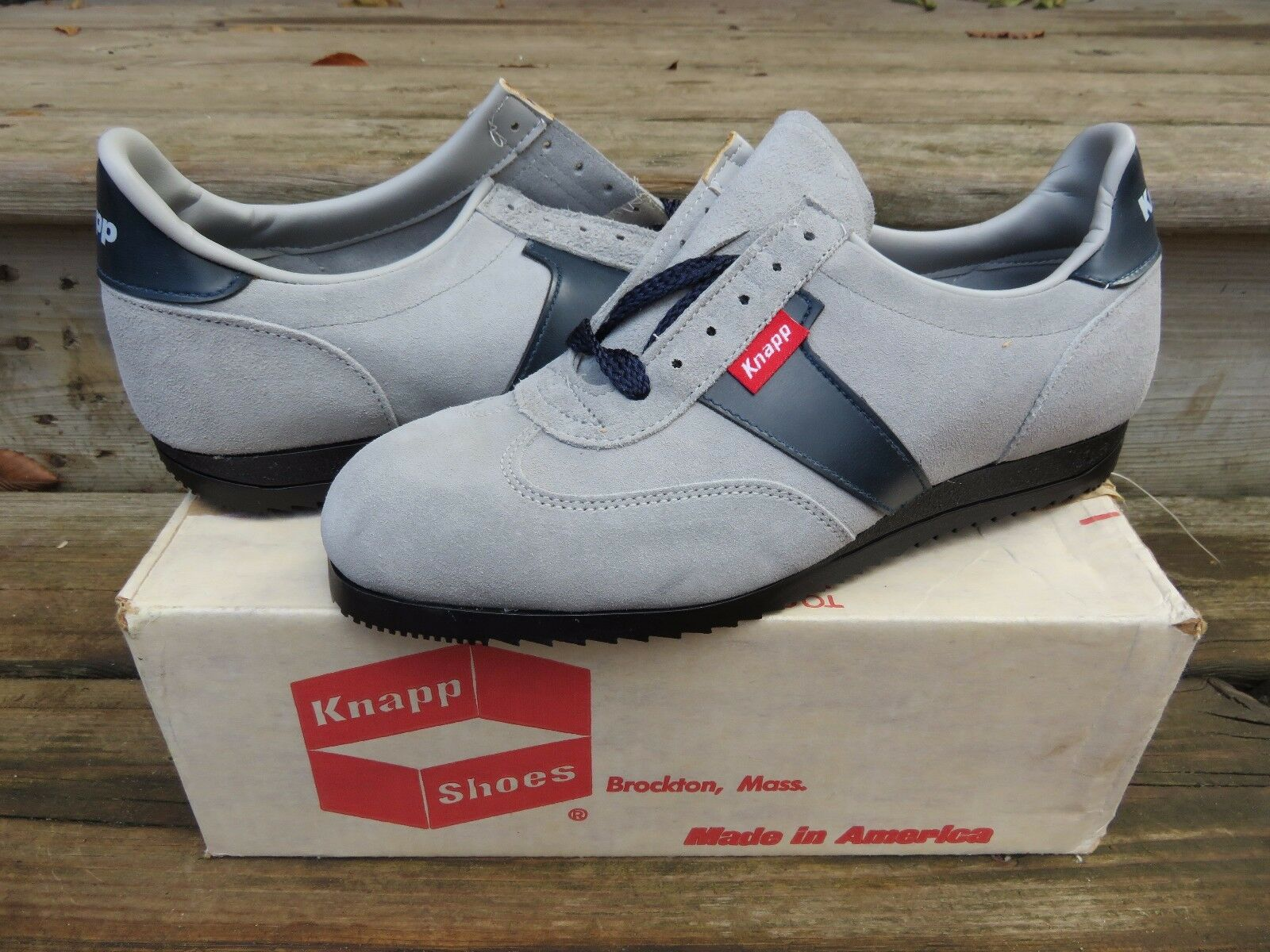 NOS Knapp Shoe Grey Sport 10 Athletic  10 Sport D VTG Grey Sport Shoe a2091f