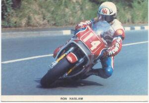 Motorcycle-Postcard-depicting-Ron-Haslam-Mannin-Postcard
