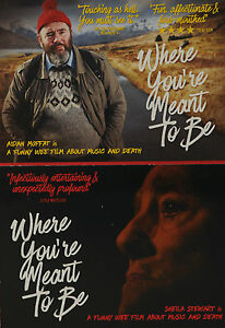 2-X-WHERE-YOU-039-RE-MEANT-TO-BE-FILM-POSTCARDS-AIDAN-MOFFAT-SHELIA-STEWART