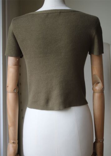 By Alexander Crop Small Wang Top T Lace Up Ribbed d64q8ngw5